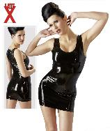 Robe courte latex